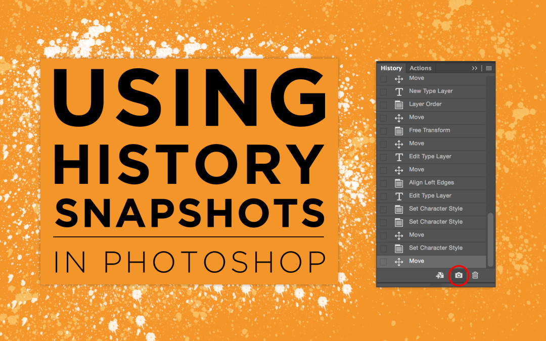 Using History Snapshots