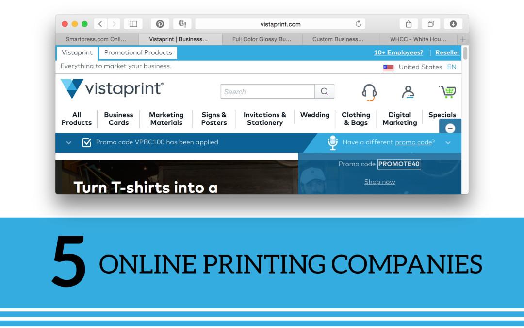 5 Online Print Companies